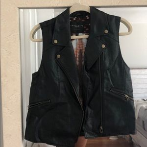 Sanctuary leather vest size M